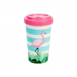 Woodway kelímek z bambusu Flamingo Pink 500 ml