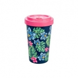 Woodway kelímek z bambusu Tropical Pink 500 ml
