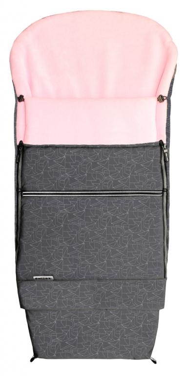 Fusak EMITEX COMBI EXTRA šedý + růžový