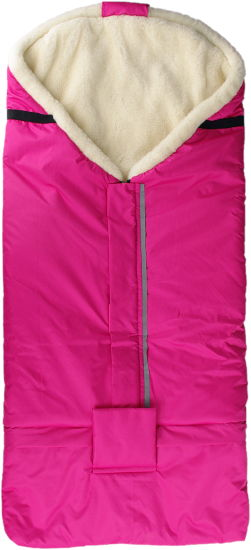 Kaarsgaren Merino fusak růžový z ovčí vlny