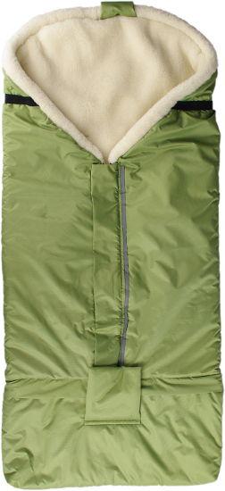 Kaarsgaren Merino fusak zelený z ovčí vlny