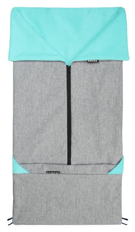 EMITEX Fusak 2v1 - SEBI šedý + aqua
