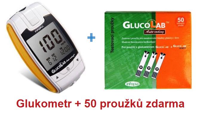 GlucoLab 50ks - testovací proužky + ZDARMA glukometr GLUCOLAB
