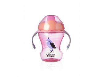 Tommee Tippee Netekoucí hrnek Explora Easy Drink 230ml 6m+ růžový