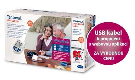 Tlakoměr TENSOVAL Duo Control II Large + USB Cardio Control Online