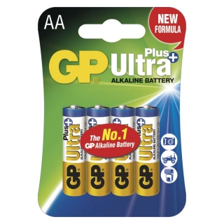 Alkalická baterie GP Ultra Plus LR6 (AA), 4 ks